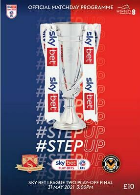 £14.99 • Buy * 2021 LEAGUE TWO PLAY-OFF FINAL - MORECAMBE V NEWPORT COUNTY (31st May 2021) *