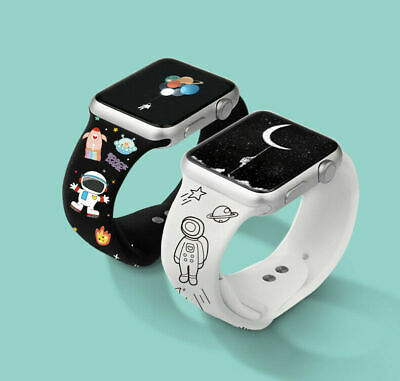 AU16.99 • Buy For Apple Watch Series  SE 6 5 4 3 2 Silicone Strap Watch Band Cute 38/40/42/44