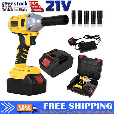 £44.99 • Buy Cordless Impact Wrench 1/2  Impact Driver Ratchet Rattle Nut Gun With Battery