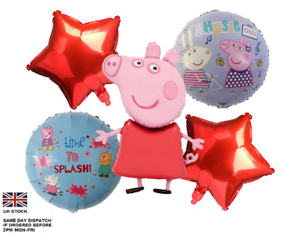 £2.90 • Buy 5pcs PEPPA PIG George Foil Balloons Children Birthday Party Decoration
