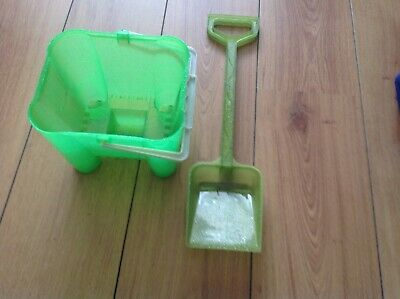 £5 • Buy Childs Green Square Shaped Glittery Bucket And Spade