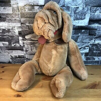 """£25.95 • Buy Vintage Wrinkles Puppet Plush Dog Soft Toy Original 17"""" 1980s Collectable"""
