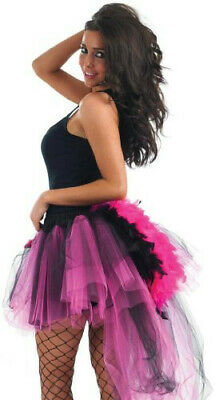 £14.99 • Buy Pink And Black Luxury Tutu With Feather Tail For Fancy Dress One Size Fits Most