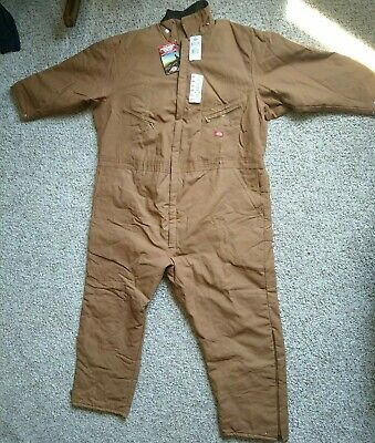 $62.50 • Buy NWT 3XL/4XL DICKIES INSULATED COVERALLS, Insulated, Brown 60reg, Quilted Winter