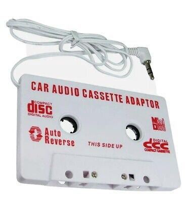 £2.50 • Buy CAR AUDIO TAPE CASSETTE ADAPTER IPHONE IPOD SAMSUNG MP3 CD RADIO 3.5mm JACK AUX