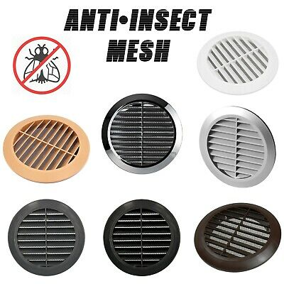 £3.49 • Buy Round Air Vent Grill Cover Ducting Ventilation Cover Anti Fly Net Wall Ceiling