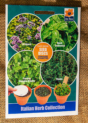 £1.65 • Buy Herb Seeds, Oregano, Basil, Parsley, Thyme,Seed Disc, Itallian Herb Collection,