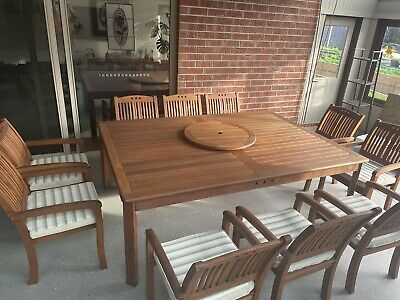 AU750 • Buy 10 Seater Outdoor Dining Table And Chairs