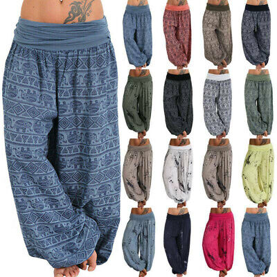 £13.59 • Buy Lady Indian Boho Gypsy Harem Pants Yoga Baggy Hippie Casual Trousers Plus Size