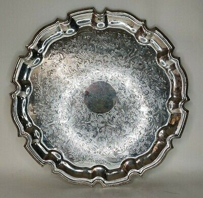 £5 • Buy Vintage Silver Plated Cavalier Serving Tray 26cm