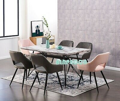 AU479.99 • Buy AINPECCA 1X Dining Table 6 Seater Metal Legs Rectangular For Kitchen Dining Room
