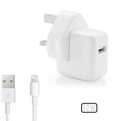 £15.99 • Buy Genuine Apple 12W UK Plug Charger Or Lightning USB Cable For IPod IPad IPhone