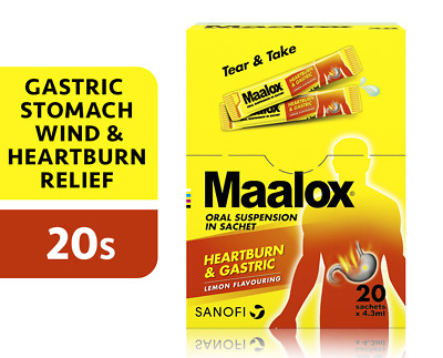 $28.80 • Buy 20'S MAALOX PLUS SIMETHICONE SUSPENSION For Relief Gastric, Stomach Wind