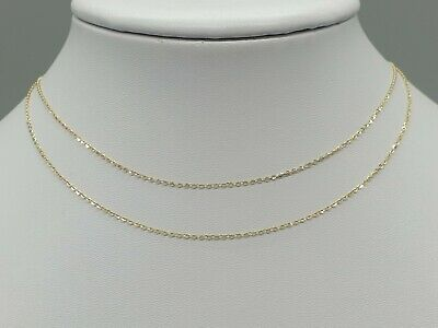 £44.90 • Buy Sparkly 9k 9ct Yellow Gold 1mm Trace Chain Necklace 12  14  16  18  Extendable