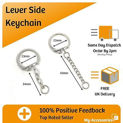 £5.55 • Buy Keyring Charm Keychain With Lever Clasp For Craft DIY Make Your Own Gifts