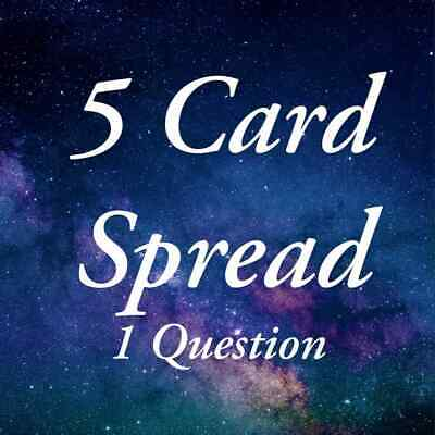 £1.50 • Buy Tarot Reading 5 Cards, 1 Questions