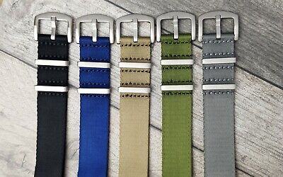 £9.95 • Buy Absolute Premium NATO Watch Straps In A Smooth Seatbelt Weave 20mm 22mm