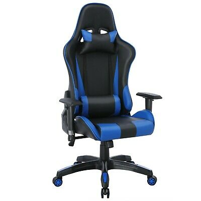 AU308.68 • Buy Computer Gaming Chair With Bluetooth Speaker RGB Led Recliner Swivel - Executive