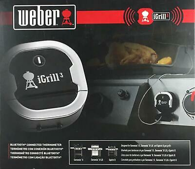 $ CDN103.18 • Buy Weber IGrill 3 Digital Bluetooth Thermometer Grill Meat BBQ Smoker Barbeque NEW