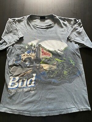 $ CDN56.01 • Buy Vintage 90's Budweiser Beer T-Shirt L Frogs Changes This Bud's For You 2 Sided