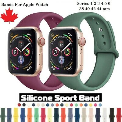$ CDN6.99 • Buy 38/40/42/44mm Silicone Sport IWatch Band Strap For Apple Watch Series 6 5 4 3 SE
