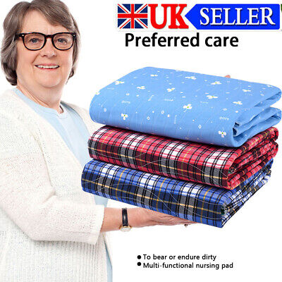 £11.99 • Buy Waterproof Washable Absorbent Incontinence Bed Mattress Protector Pad UK
