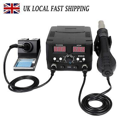 £46 • Buy 2 In 1 750W Soldering Iron Station Welding Stand Kit Digital SMD Hot Air Gun