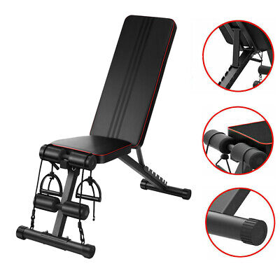 £45.99 • Buy Folding Adjustable Weight Bench Home Gym Exercise Fitness Incline Dumbbell Bench