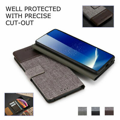 AU14.89 • Buy For OnePlus 9 9R 9Pro Nord N10 N100 8T 8Pro Shockproof Canvas Leather Case Cover