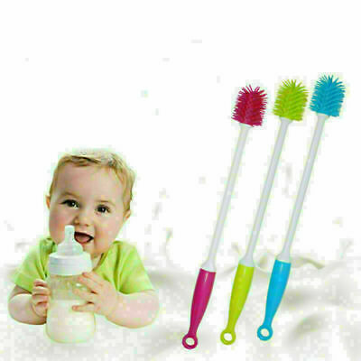 £2.99 • Buy Silicone Long Handle Wash Cup Brush Baby Milk Bottle Brush Glass Cup Cleaner