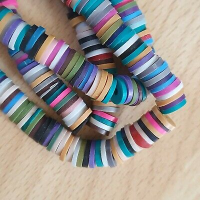£2.29 • Buy Heishi Polymer Clay Disc Beads 8mm X 1mm - 380 Beads Per Pack