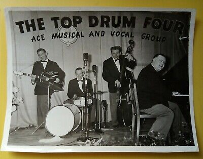 £29.99 • Buy THE TOP DRUM FOUR Hand Signed Autographs 10 X 8 Photo BILL ROBERTS DICKINSON +2
