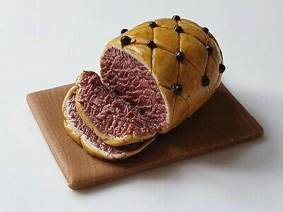 £5.99 • Buy 12th Scale Clove Studded Ham, Dolls House Food, Butchers Shop, Polymer Clay