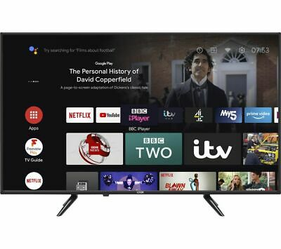£279.99 • Buy LOGIK L43AUE21 Android TV 43  Smart 4K Ultra HD HDR LED TV With Google Assistant