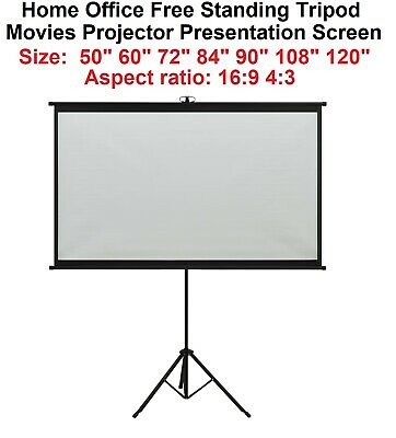 AU78.50 • Buy 50-120  Home Office Freestanding Tripod Movies Projector Presentation Screen
