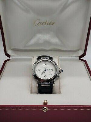 $2995.99 • Buy Men's Cartier Pasha Automatic 2379 38mm Stainless Steel Leather Strap Box Papers