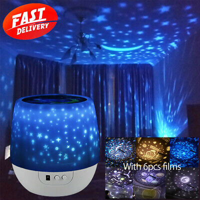 AU26.99 • Buy 3D LED Starry Sky Star Projector Nebula Night Light Lamp Baby Room Galaxy Party