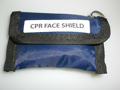 £2.19 • Buy Nylon CPR Resuscitation Keyring Pouch With One-Way Valve Face Shield
