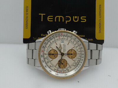 £3750 • Buy BREITLING OLD NAVITIMER CHRONOGRAPH B13019 STEEL&GOLD 18KT BOX&PAPERS '90s WATCH