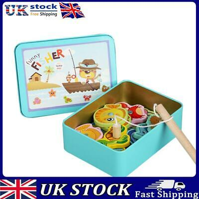 £7.69 • Buy UK Baby Kids Magnetic Fishing Game Jigsaw Puzzle Board Wooden Educational Toy
