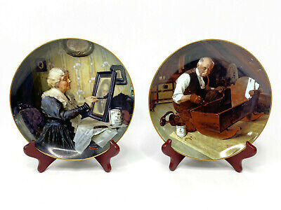 $ CDN31.41 • Buy Norman Rockwell 'Grandpa's Gift' And 'Grandma's Love' Collector Plates Lot Of 2