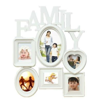£8.34 • Buy Multi Photoframe Family Love Frames Collage Picture Aperture Wall Photo Frame