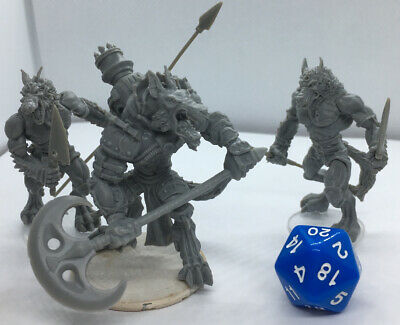 $ CDN10.96 • Buy 3 Large  Male Beastman Werewolf Monster Miniatures For Dungeons And Dragons New