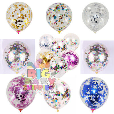 £1.99 • Buy CONFETTI FILLED BALLOONS 12 / 36  Large Helium Quality Party Wedding Decorations