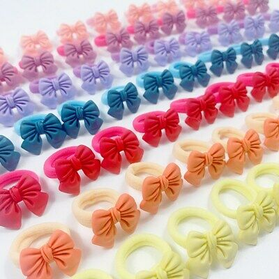 $ CDN4.85 • Buy Decorations Colorful Girls Hair Bands Bow Hair Ties Scrunchie Hair Accessories