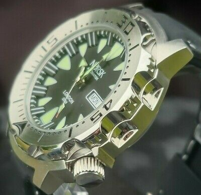 $ CDN110.81 • Buy Automatic Sea Monster Watch, Norsk, Norway, Diver, Seiko NH36a Movement. Black