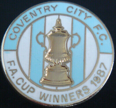 £30 • Buy COVENTRY CITY FC Rare 1987 FA CUP WINNERS Badge Brooch Pin In Gilt 29mm Dia