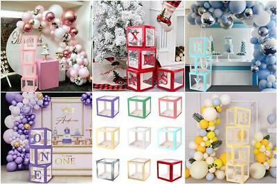 £5.95 • Buy A-Z Letter Cube Wedding Baby Shower Balloon Box Transparent Birthday Party Decor