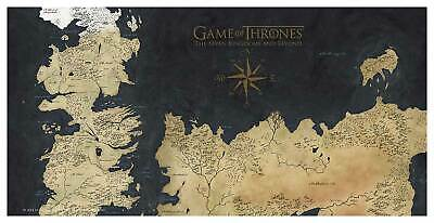 £24.77 • Buy Game Of Thrones Westeros Map Tempered Glass Poster