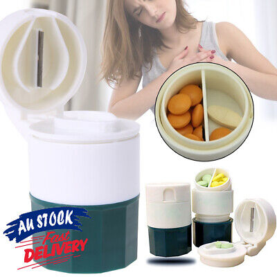 AU10.75 • Buy 4 Layers Tablet Divider Grinder Pill Crusher Cutter Box Hot Splitter Cup Storage